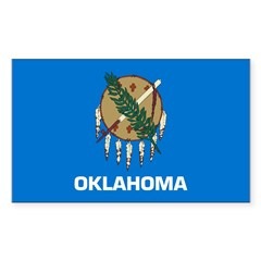 Oklahoma Sticker (Rectangle 10 pk)