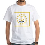 Rhode Island White T-Shirt