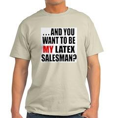 """Vandelay Salesman"" Ash Grey T-Shirt"