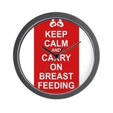 Keep Calm, Carry on Breastfee Wall Clock