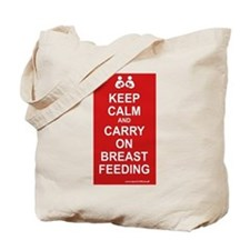 Keep Calm, Carry on Breastfee Tote Bag
