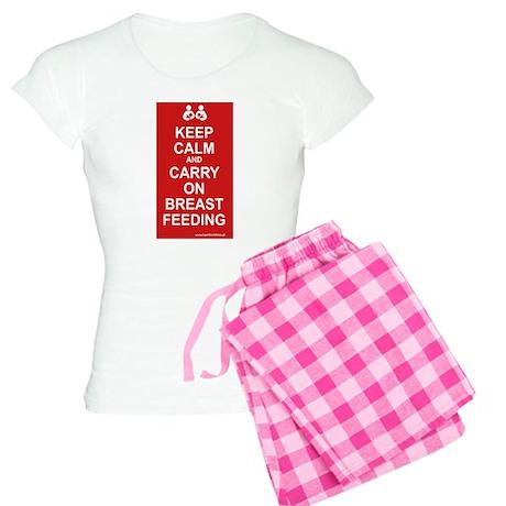 Keep Calm, Carry on Breastfee Women's Light Pajama