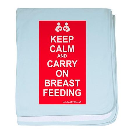 Keep Calm, Carry on Breastfee baby blanket
