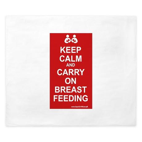 Keep Calm, Carry on Breastfee King Duvet
