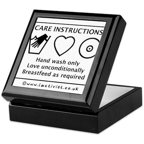 Care Instructions Keepsake Box
