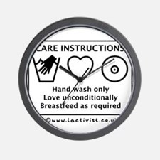 Care Instructions Wall Clock