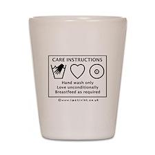 Care Instructions Shot Glass