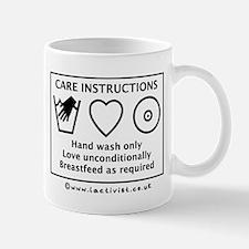 Care Instructions Mug