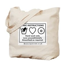 Care Instructions Tote Bag