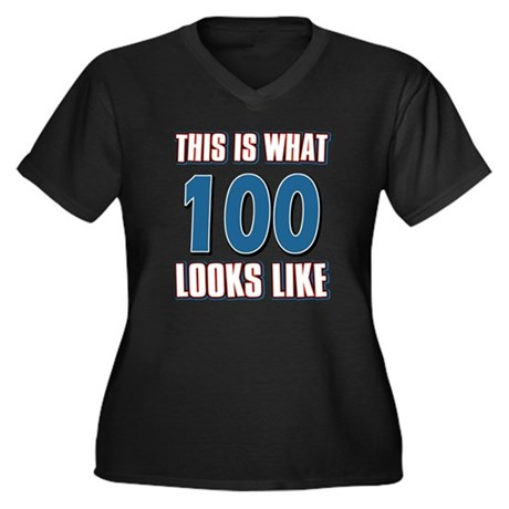 Cool 100 year old birthday designs Women's Plus Si