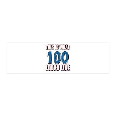 Cool 100 year old birthday designs 42x14 Wall Peel