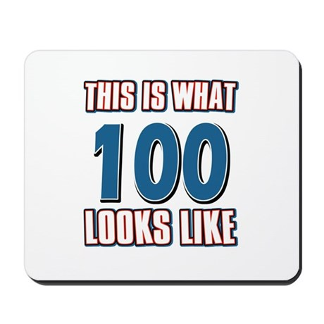 Cool 100 year old birthday designs Mousepad
