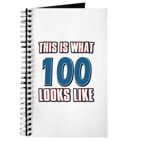 Cool 100 year old birthday designs Journal