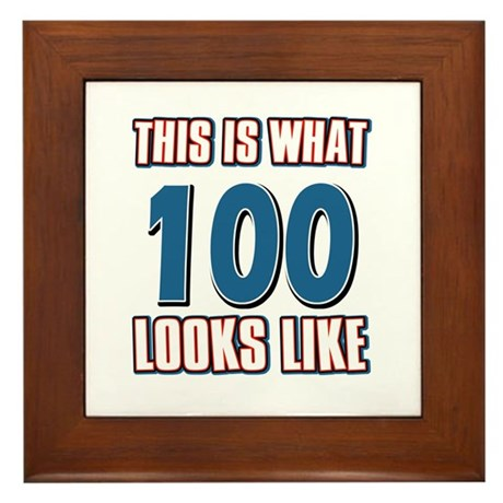 Cool 100 year old birthday designs Framed Tile