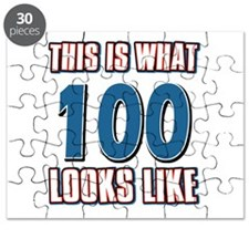 Cool 100 year old birthday designs Puzzle