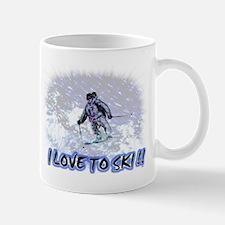 i love to ski Mug