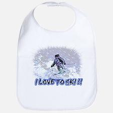 i love to ski Bib
