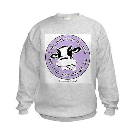I like milk from my mum Kids Sweatshirt
