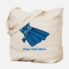 Diving Snorkel etc. And Text. Tote Bag