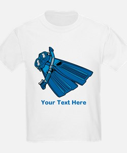 Diving Snorkel etc. And Text. T-Shirt