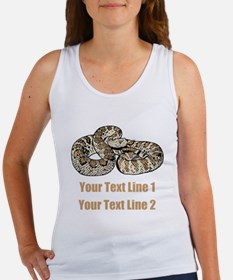 Rattle Snake, and Custom Text Women's Tank Top