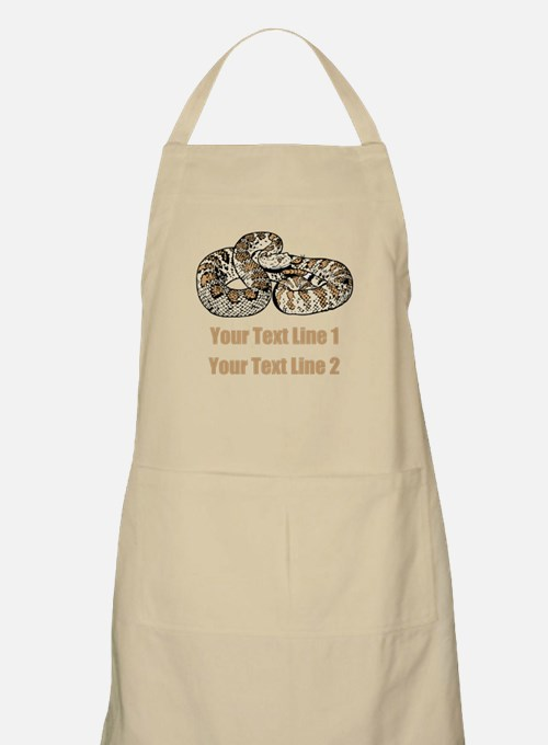 Rattle Snake, and Custom Text Apron