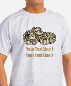 Rattle Snake, and Custom Text T-Shirt