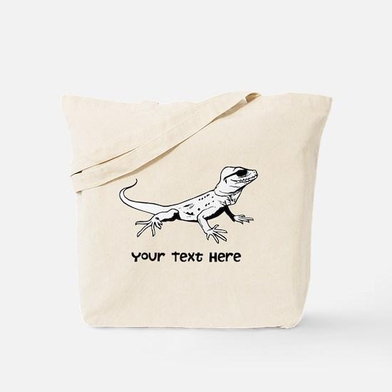 Lizard and Custom Text Tote Bag