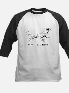 Lizard and Custom Text Kids Baseball Jersey