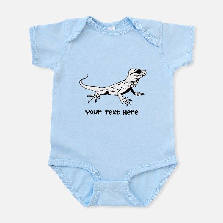 Lizard and Custom Text Infant Bodysuit