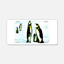 penguins Aluminum License Plate