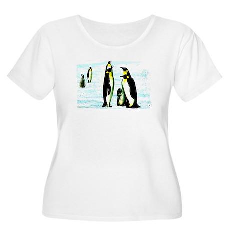 penguins Women's Plus Size Scoop Neck T-Shirt