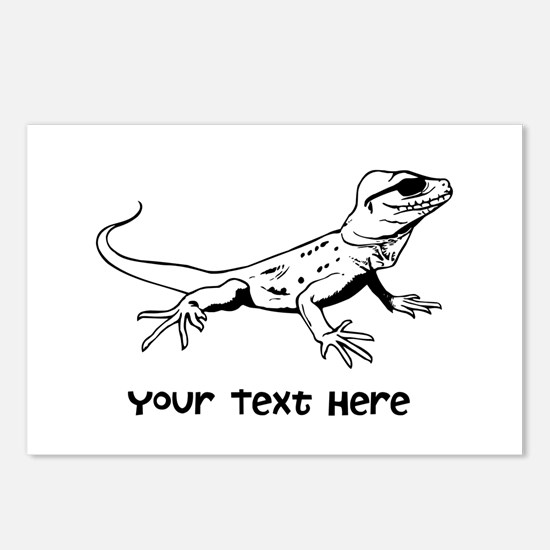 Lizard and Custom Text Postcards (Package of 8)