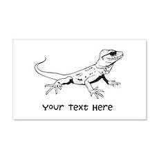 Lizard and Custom Text 22x14 Wall Peel
