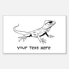 Lizard and Custom Text Decal
