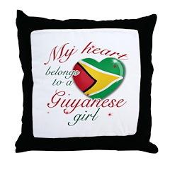 Guyanese Valentine's designs Throw Pillow