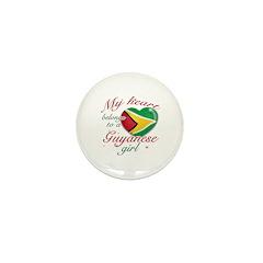 Guyanese Valentine's designs Mini Button (10 pack)