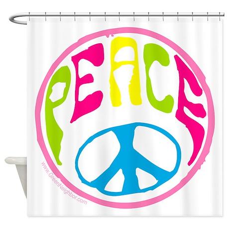 Hippie Peace Sign Shower Curtain