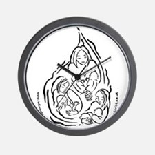 Breastfeeding Droplet Design Wall Clock