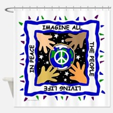 Hands of Peace Shower Curtain