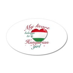 Hungarian Valentine's designs 38.5 x 24.5 Oval Wal