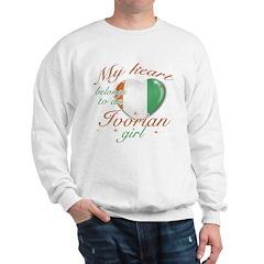 Ivorian Valentine's designs Sweatshirt