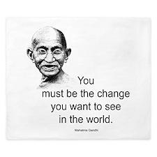 Gandhi - Be the Change King Duvet