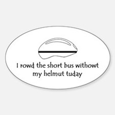 Short bus Oval Decal