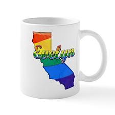 Evelyn, California. Gay Pride Mug