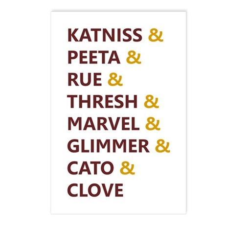 Katniss & Peeta & Rue Postcards (Package of 8)