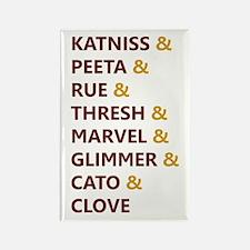 Katniss & Peeta & Rue Rectangle Magnet