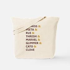Katniss & Peeta & Rue Tote Bag