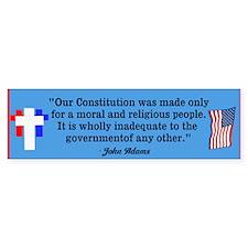 Moral & Religious People Bumper Sticker