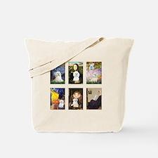 Maltese Famous Art (clr) Tote Bag